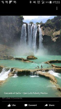 San Louis Potosi Mexico vacation spots waterfall blue water