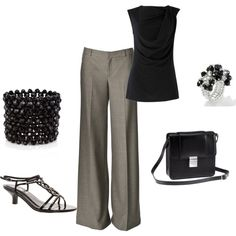 c5088aa9540a9 created by songbirdancer on Polyvore Pleated Pants, How To Look Classy,  Strappy Sandals,