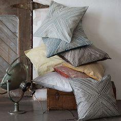 Diamond Dot Crewel Pillow Cover - Golden Gate | west elm