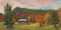 Fall Golfing at The Wentworth by Sharon Allen Oil ~ 6 x 12