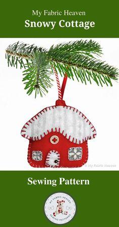 Handmade Crafts, Handmade Felt, Etsy Handmade, Diy Crafts, Selling Handmade Items, Handmade Products, Handmade Christmas, Christmas Fabric, Christmas Tree