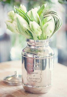 #silver mercury mason jars #silver mason jars #mason jars ONLY $4.99 EACH!! http://www.bliss-bridal-weddings.com/#!product/prd3/3407789905/silver-mercury-mason-jar-6-pack
