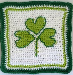 Shamrock Dishcloth ~ free pattern