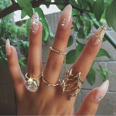 Clear gold and jewelz