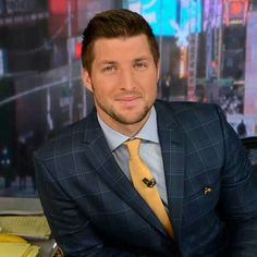 ESPN trotted out Tim Tebow as new face of SEC Network launching in August. The ex-QB turned TV analyst promised 'in-depth' coverage at ESPN upfront. Sec Network, Tim Tebow, Hey Good Lookin, Sport Man, Good Looking Men, Perfect Man, Espn, Celebrity Crush, Role Models