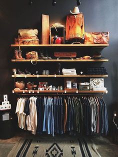 Nice 120 Brilliant Wardrobe Ideas For First Apartment Bedroom Decor roomadness. - The Home Decor Trends Diy Clothes Storage, Clothes Storage Ideas Without A Closet, Clothing Storage, Shelves For Clothes, Storing Clothes, Clothing Displays, Clothing Racks, Apartment Bedroom Decor, First Apartment