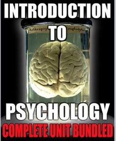 Introduction to Psychology Unit 1 includes Intro to Psychology Unit I Powerpoints with presenter notes, worksheets, warmups, activity, review puzzle and game, assessment project and daily lesson plans. This unit has everything you need to teach all about the first unit of psychology.