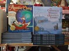 Are you looking for a fun and frivolous Christmas read? Or something a little more heartwarming and memorable? These are two of many magical Christmas picture books waiting for you at The Children's Hour. We would love to provide personalized reading recommendations and complimentary giftwrap. #booksmakeperfectgifts #9thand9th #auntieclaus #thechristmasmiracleofjonathantoomey #christmasdayinthemorning #christmasbook #picturebook #childrenshourbookreview #thechildrenshourslc || The Children's…
