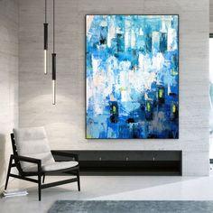Modern Acrylic Paintings Abstract Wall Art Bathroom Wall image 1 Acrylic Wall Art, Abstract Canvas Art, Canvas Wall Art, Acrylic Paintings, Extra Large Wall Art, Large Art, Large Canvas, Oversized Wall Art, Office Wall Art
