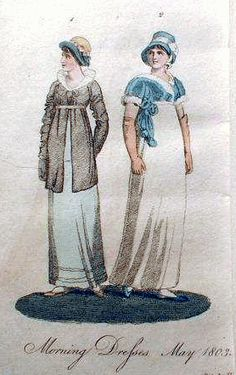 "Dresses of 1803 from the ""Ladies Monthly Museum"""