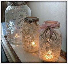 Decorations, Lace Around Jars Wedding Decoration Ideas On A Budget: Wedding Decoration Ideas on a Budget