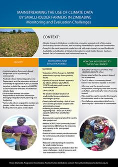 Practical Action: Mainstreaming the use of climate data by smallholders in Zimbabwe Agricultural Extension, Practical Action, Food Security, Zimbabwe, Farmers, Climate Change, Agriculture, Budgeting, Highlights