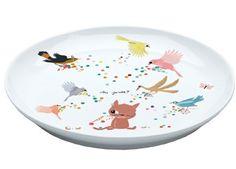 heerlijk porseleinen bordje DJECO   kinderen-shop Kleine Zebra