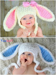 easter crochet patterns You will love these Floppy Bunny Ears Crochet Pattern Ideas and there's something for everyone. Check out all the great ideas now. Easter Crochet Patterns, Crochet Motifs, Crochet Crafts, Crochet Yarn, Crochet Stitches, Crochet Projects, Free Crochet, Crochet Ideas, Crochet Hat Pattern Kids