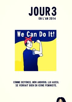 We can do it! Beyonce vs Android illustration by Fanja Ralaimaro, 2014