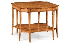Biedermeier Side Table, Birch