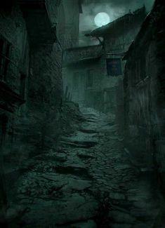 The amazing digital art of Markus Luotero d'artiste Matte Painting Digital Artists Master Class Fantasy City, Fantasy Places, Dark Fantasy Art, Fantasy World, Digital Art Fantasy, Dark Green Aesthetic, Arte Obscura, Slytherin Aesthetic, Wow Art