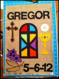 First Communion Banners can come in a variety of styles, colors, shapes, and sizes. Here are 55 examples of First Communion Banners for boys and girls in 2012.