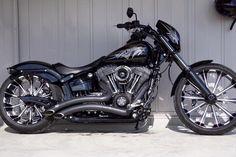 Harley Davidson Breakout #harleydavidsonbobbersoftail #harleydavidsonsoftail