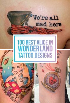 100 Alice In Wonderland Tattoo Designs TattooBlend Trendy Tattoos, Love Tattoos, Beautiful Tattoos, Body Art Tattoos, New Tattoos, Small Tattoos, Tatoos, Fandom Tattoos, Awesome Tattoos