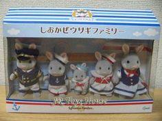 Sylvanian Families Grey Sailor Rabbit Family. Limited edition Yokohama, Japan.
