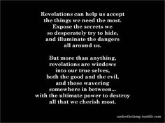 revelations [revenge quotes]