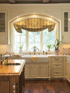 arched casement kitchen windows over sink | visit houzz com