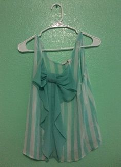 Buy my item on #vinted http://www.vinted.com/womens-clothing/tank-tops/15731286-mint-bow-tank