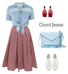 """""""jeans"""" by serafinna on Polyvore featuring Tome, GUESS, Rebecca Minkoff and Oscar de la Renta"""