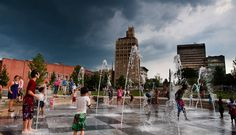 Beat the heat in Splashville . located in Pack Square Park in downtown Asheville. Photo by Derek Olsen. Ashville North Carolina, Ashville Nc, Asheville Things To Do, Mountain City, Spring Break Trips, North Carolina Mountains, Biltmore Estate, Blue Ridge Mountains, Places Of Interest