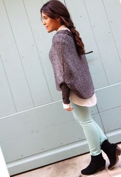 mlle  , Mango in Sweaters, Stradivarius in Pants, Mango in Ankle Boots / Booties