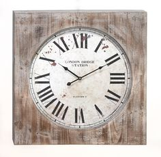 Piccadilly Wall Clock - Weathered Whites on Joss & Main, $67.95