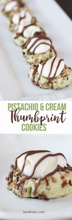 These PISTACHIO & CREAM THUMBPRINT COOKIES are amazing!! Easy to make treat recipe but seem so fancy and they are delish! I had them at a baby shower not too long ago. Yum!