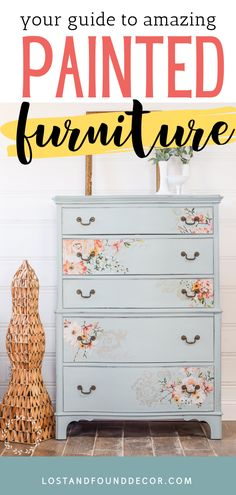 I'm happy to share with you 8 years worth of painted furniture makeovers! So many pieces to inspire you and tutorials to help you get the look for yourself. #paintedfurniture #furnituremakeovers Blue Painted Furniture, Patterned Furniture, Decoupage Furniture, Refinished Furniture, Chalk Paint Furniture, Diy Furniture Projects, Diy Furniture Plans, Art Furniture, Repurposed Furniture