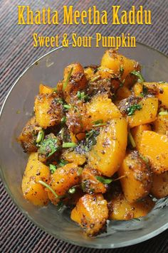 YUMMY TUMMY: Khatta Meetha Kaddu Recipe - Sweet & Sour Pumpkin Curry Recipe