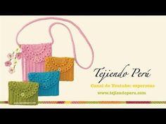 Monedero o bolsito de una pieza tejido a crochet