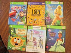 Lot of 6 LEAP FROG Tag Reader Puzzles Tinker Bell Princess Fancy Nancy Books #leapFrog