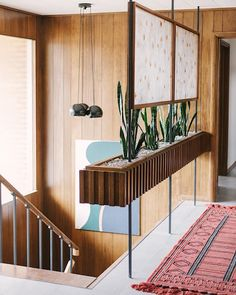 Mid-century Interior, Interior Stairs, Home Interior Design, Interior Architecture, Interior And Exterior, Partition Design, Deco Design, Staircase Design, Mid Century House