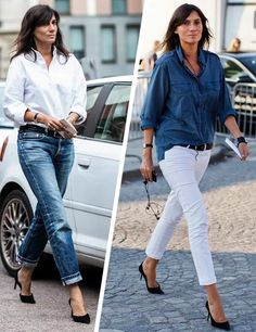 uniforme fashion | jeans e camisa | jeans pants and shirt