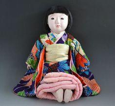 Japanese Meiji antique ICHIMATSU NINGYO Girl gofun Doll craftman 011402 | eBay