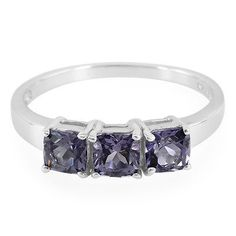 Blueberry Quartz 925 Sterling Silver Ring - Size 6.5-7