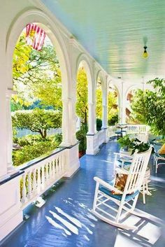 Southern charm front porch http://facebook.com/porchandsunroomideas