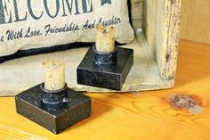 how cute are these little stubby timer candles! love....love!! simplyyours | Home Decor