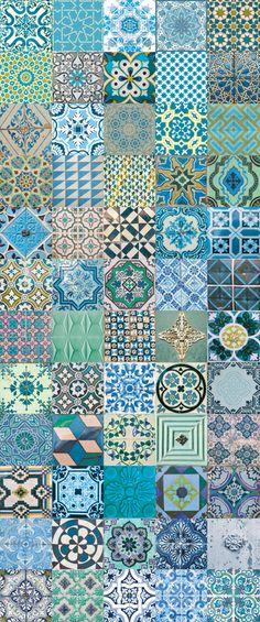"Papier peint "" azulejos"""