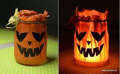 Handmade Halloween Candle Holder