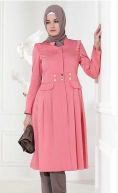 setrms tesettür giyim pardesü Muslim Fashion, Hijab Fashion, The Dress, High Neck Dress, Turkish Wedding, Hijab Style Dress, Beautiful Hijab, Ootd Hijab, Blouse Designs