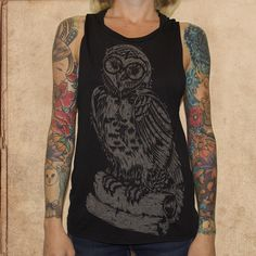 Harry Potter - Hedwig - women's relaxed fit tank - black