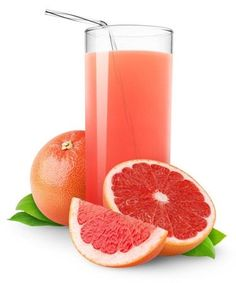 """Grapefruit Juice - """"Grapefruits contains powerful antioxidants and valuable nutrients, such as Vitamins C, A, K, D, and B complex. Other important nutrients contained in grapefruits are potassium, folic acid, calcium, phytonutrients and phosphorus. Grapefruits are also instrumental in increasing the body's alkalinity and reducing acidity, and in preventing or treating various diseases."""" http://www.naturalnews.com/029489_grapefruit_health.html"""