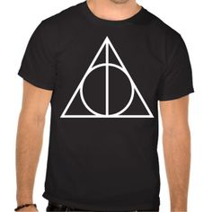deathly hallows Tshirt for man matrial  100  by ShortandLong, $18.99