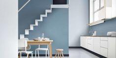 Hallway colour ideas dulux colour of the year denim drift family tonal colour palette blue hues Dulux Paint Colour Of The Year, Color Of The Year 2017, Dulux Paint Colours Blue, Dulux Color, Denim Drift Dulux Paint, Dulux Blue, Interior Paint, Interior Design, Hallway Colours